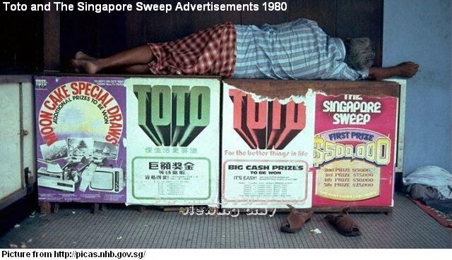 toto and SINGAPORE SWEEP adverts 1980