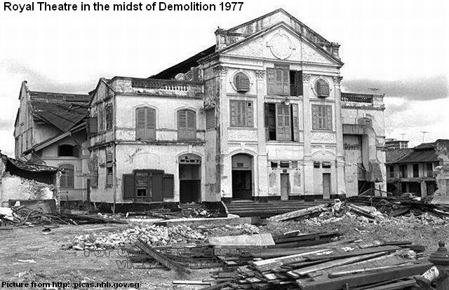 Royal Theatre In Midst Of Demolition 1977 Remember Singapore