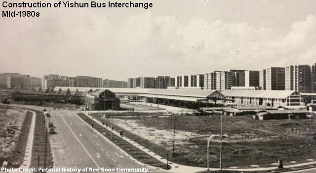construction of yishun bus interchange 1980s