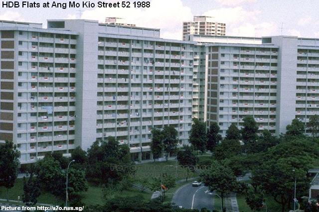 hdb flats at ang mo kio street 52 1988