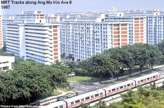 mrt tracks along ang mo kio ave 8 1987