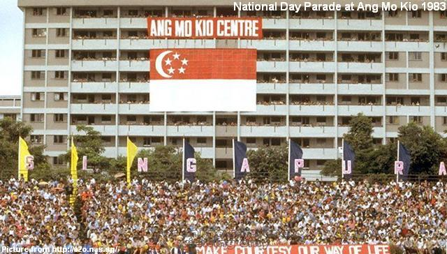 national day parade at ang mo kio 1983-2