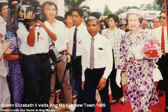 queen elizabeth visits ang mo kio 1989