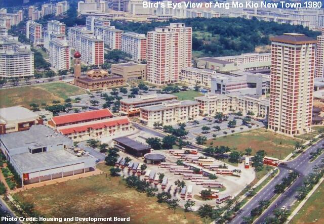 view of ang mo kio new town 1980-2
