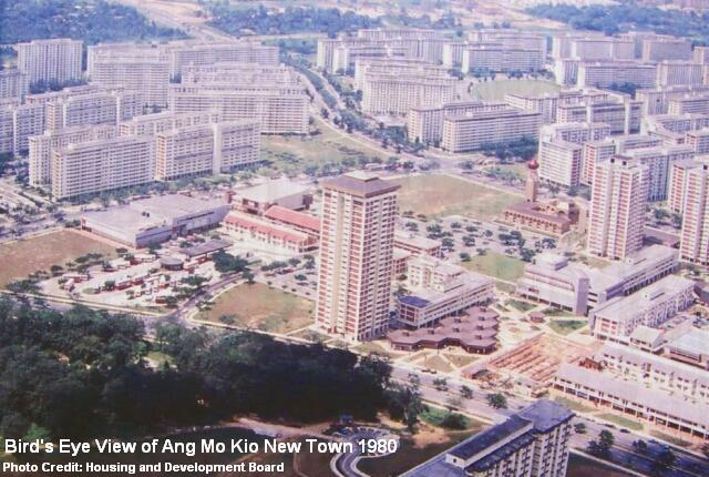 view of ang mo kio new town 1980