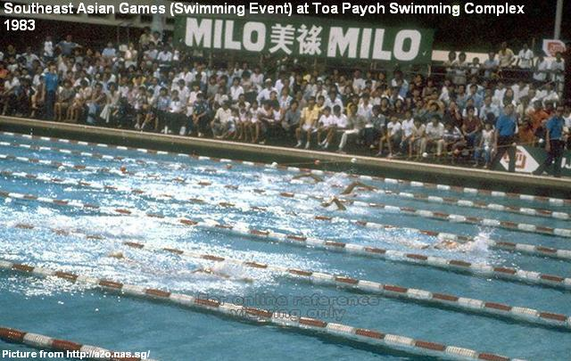 southeast asian games at toa payoh swimming complex 1983