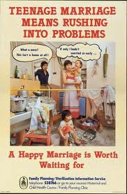 teenage marriage means rushing into problems a happy marriage is worth waiting for 1978