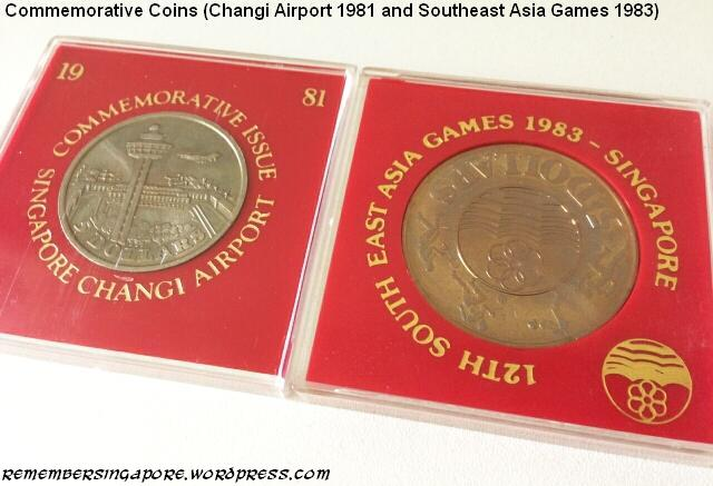 commemorative coins changi airport 1981 southeast asia games 1983
