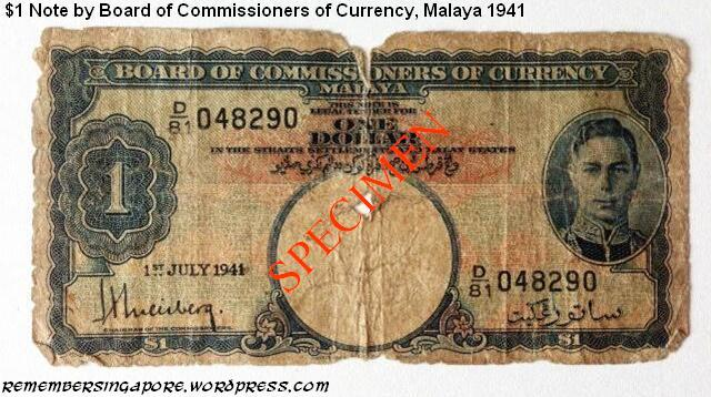 malaya 1-dollar note 1941