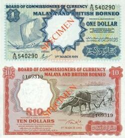 malaya and british borneo currency 1959