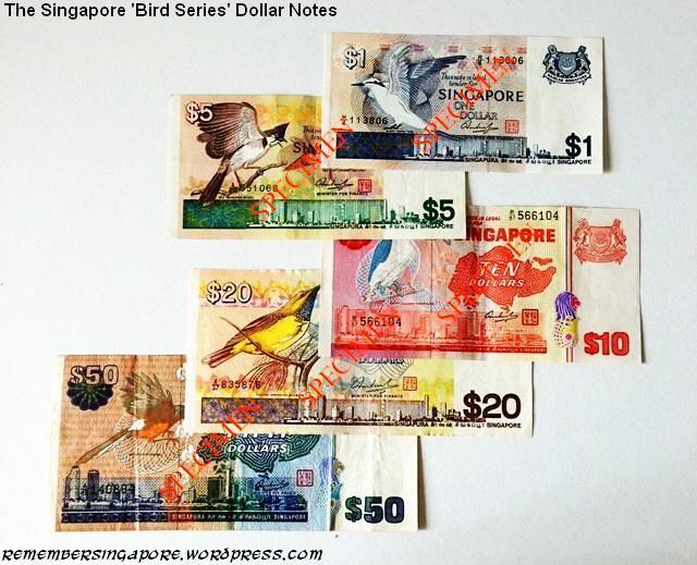 singapore notes bird series