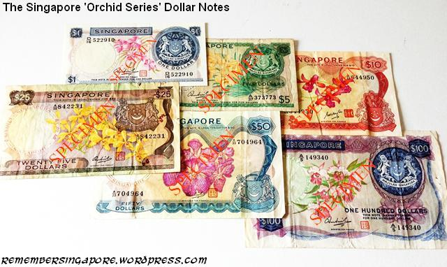 singapore notes orchid series
