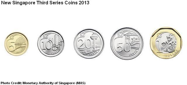 third series singapore coins 2013