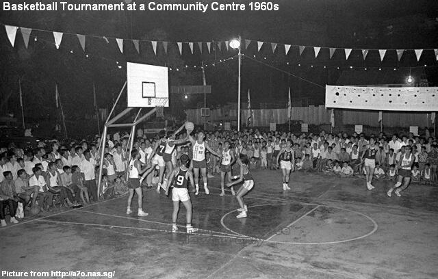 basketball tournament at community centre 1960s