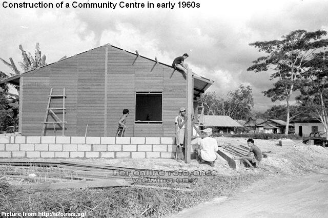 construction of a typical community centre in early 1960s