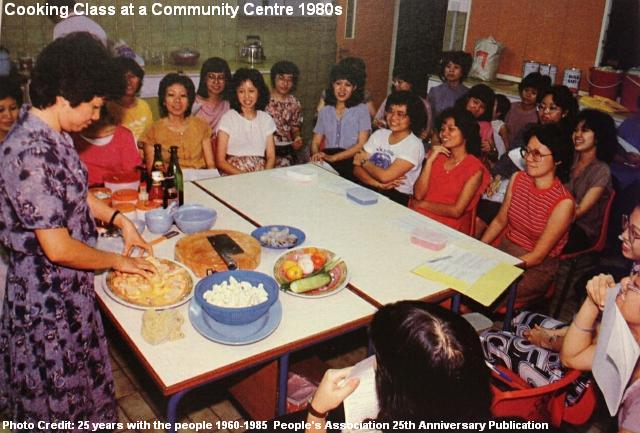 cooking class at community centre 1980s