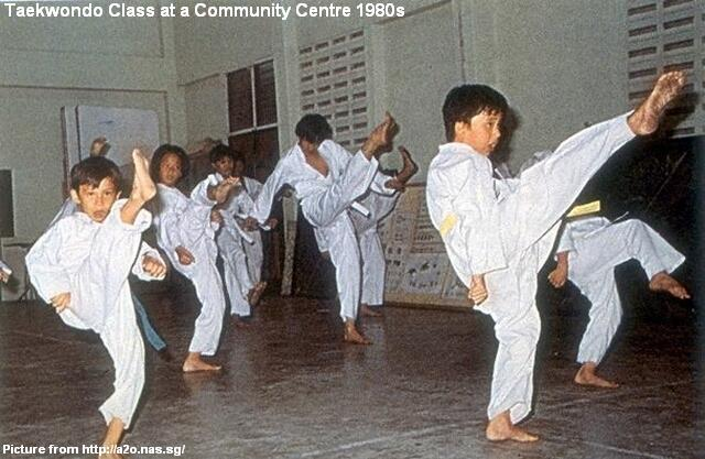 taekwondo at community centre 1980s