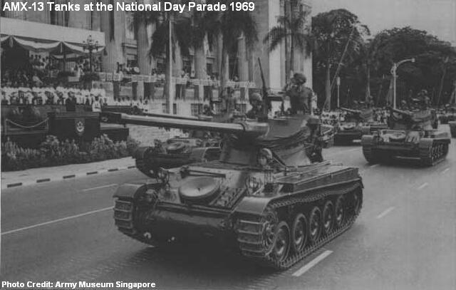 amx-13 tanks at national day parade 1969