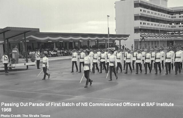 first commissioned officers passing out parade 1968