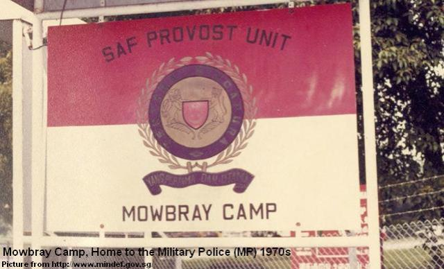 mowbray camp home to military police 1970s