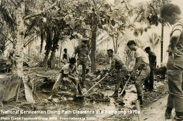 national servicemen kampong clearance 1971