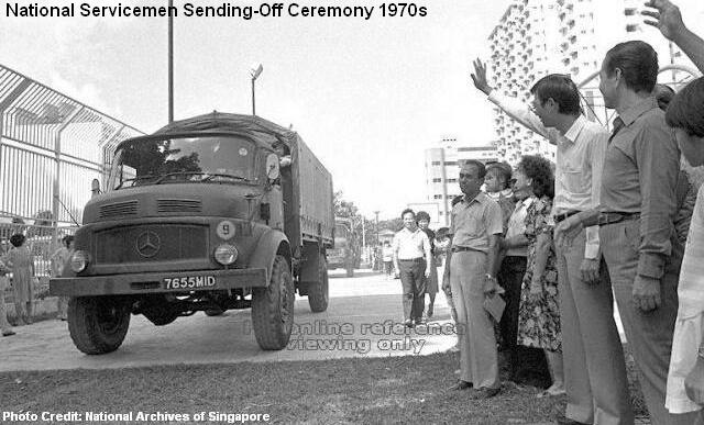 national servicemen send-off ceremony 1970s