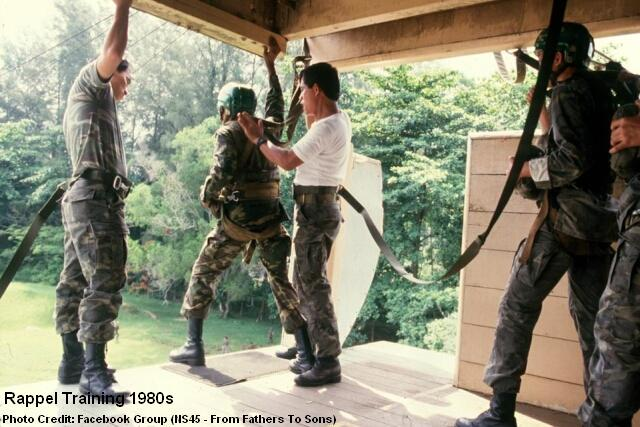 rappel training 1980s