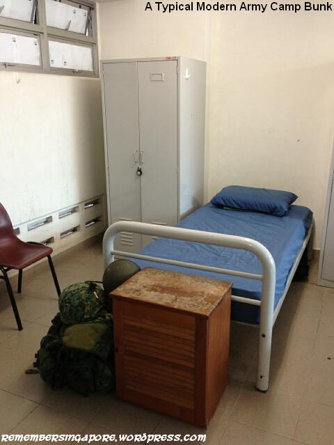 typical modern bunk in army camp