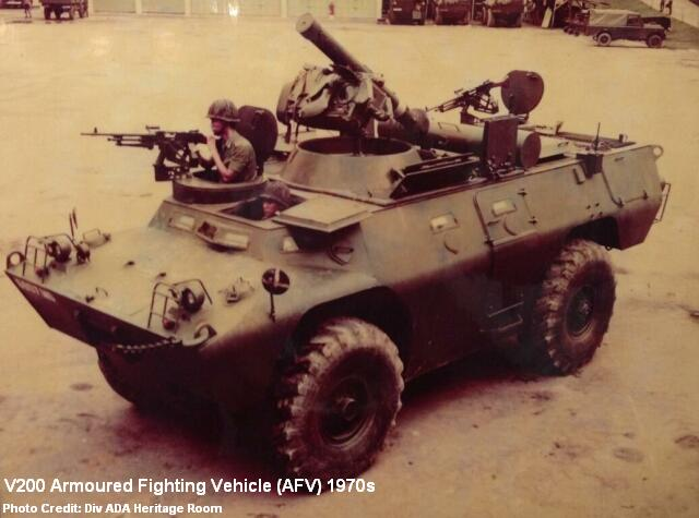 v200 armoured fighting vehicle 1970s