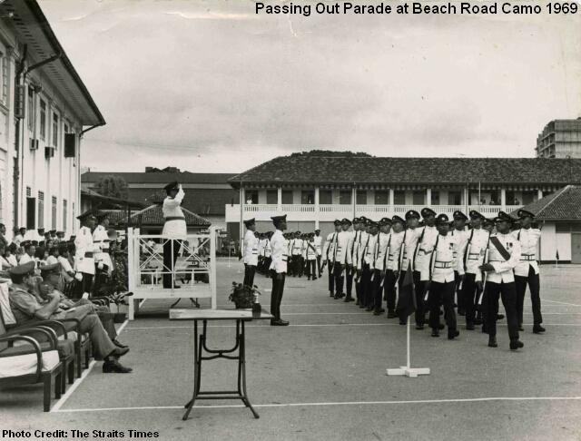 passing out parade at beach road camp 1989