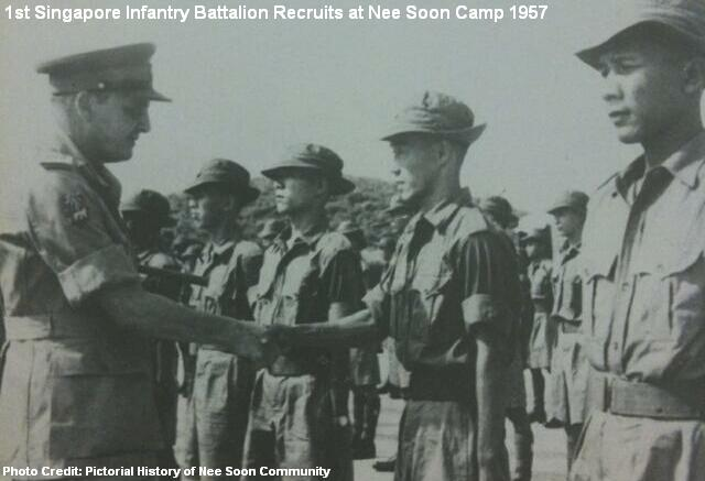 singapore infantry battalion recruits at nee soon camp 1957