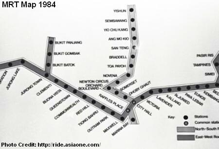 early mrt map 1984