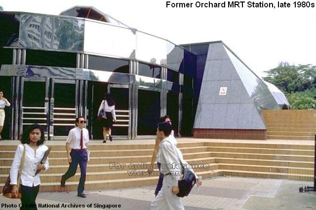 former orchard mrt station late 1980s