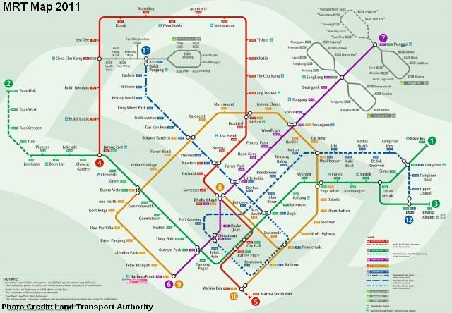 mrt lrt map 2011