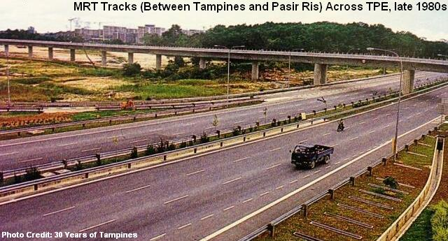 mrt tracks between tampines pasir ris late 1980s