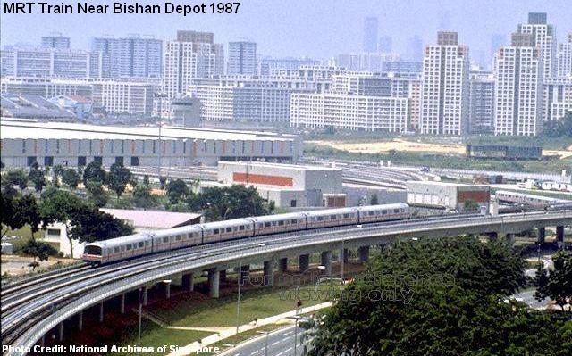 mrt train near bishan depot 1987