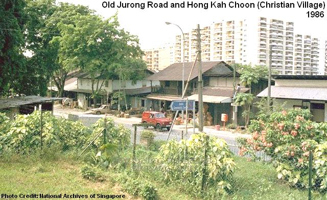 old jurong road and hong kah village 1986