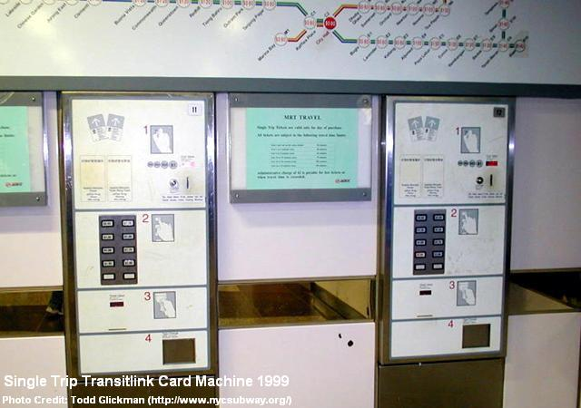 single trip transitlink card machine 1999