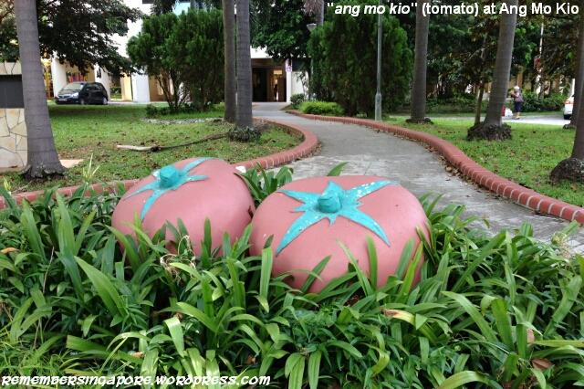 tomato sculpture at ang mo kio