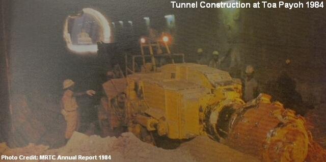 tunnel construction at toa payoh 1984