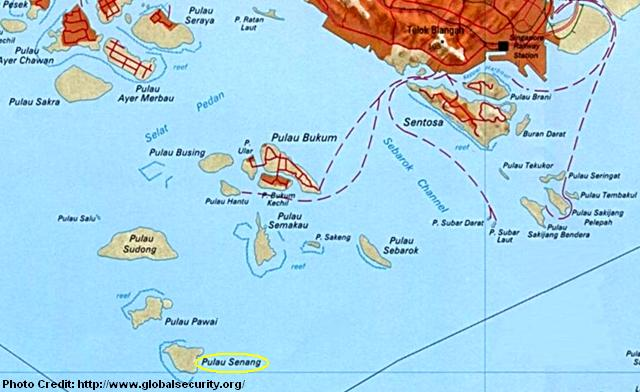 map of pulau senang