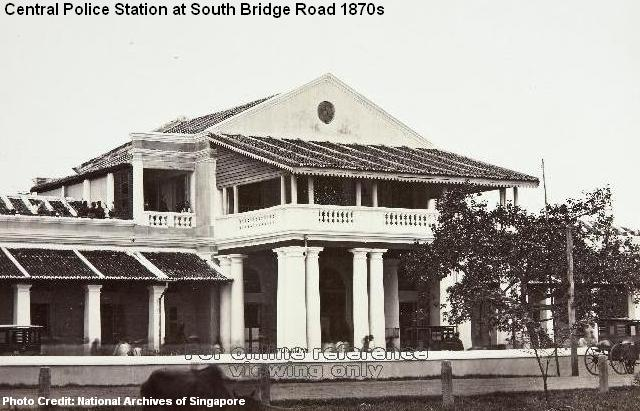 central police station at south bridge road 1870s