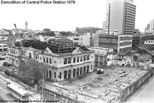 demolition of central police station 1978