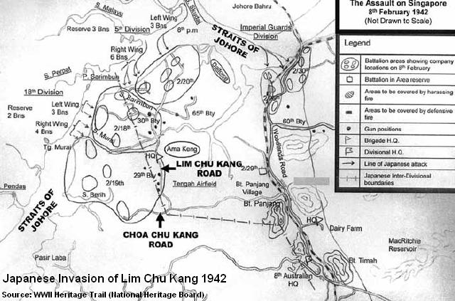 japanese invasion of lim chu kang 1942