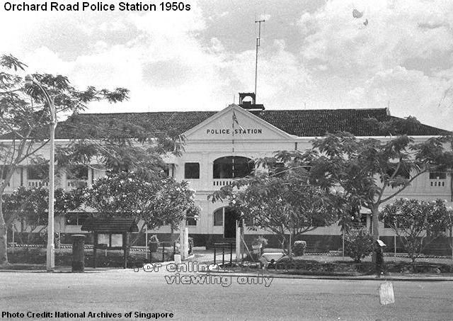 orchard road police station 1950s
