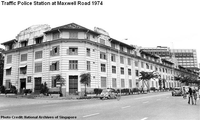 traffic police station at maxwell road 1974