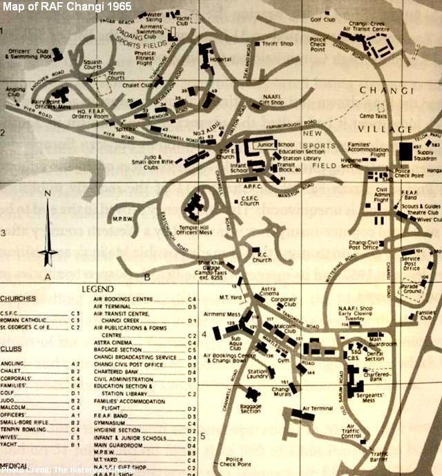 map of raf changi 1965