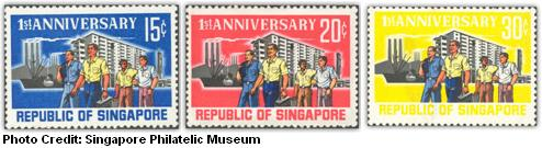 first stamps of republic of singapore 1966