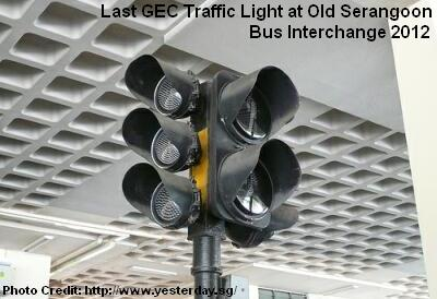 last gec traffic light at old serangoon bus interchange 2012