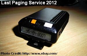 last paging service 2012
